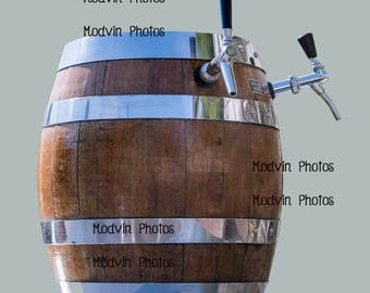 Beer Keg Photograph, Modern Art Photo, Beer Photo, Beer Tap