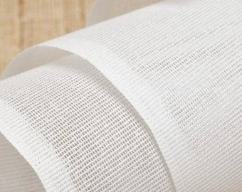 Heavy duty white non-fusible Buckram Millinery/Hat material