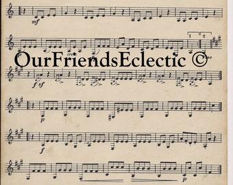 Digital download vintage music sheet Mozart/Renard you print digital paper ephemera