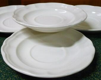 4 - Pfaltzgraff - Filgree - Scalloped Saucers - Price Is For All - Read Below
