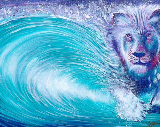 Lion Wave . Prints . 2014