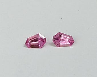 Pink Sapphire, Matched Pair, Precision Cut,Fancy cut, Ceylon