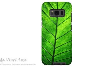 Green Leaf Case for Samsung Galaxy S8 - Green dual layer Galaxy S 8 Case - Leaf of Knowledge - Premium Dual Layer Cover by Da Vinci Case