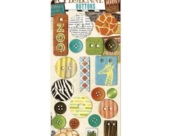 Bo Bunny~Safari Buttons