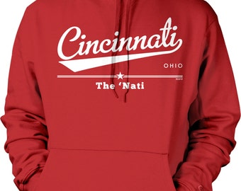 Cincinnati, Ohio, The Nati Hooded Sweatshirt, NOFO_00914