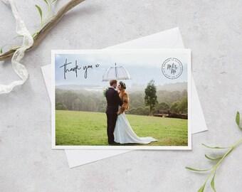 Wedding Photo Thank You Card, Wedding Thank You Card, Personalised Wedding Thank You Card, Photo Thank You Card, Printable Thank You Card