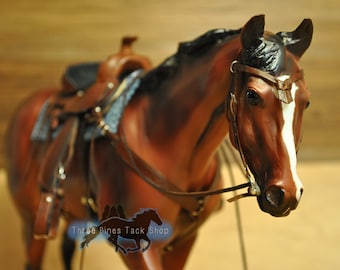 Western Bridle with Futurity Knot Browband for Model Horses