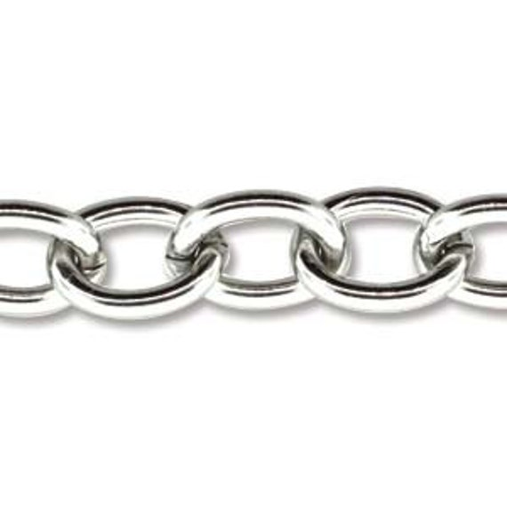 25 Feet Stainless Steel Chain Link Size 6.9mm x 4.4mm Thickness 14 Gauge