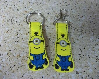 Minion key fob and zipper pulls