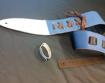Gym shoe - Guitar strap, Leather guitar strap, Tuba David Leather - Guitar Strap, Handmade guitar strap