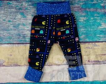 Pac-man grandir avec moi, pantalon, pantalon 12m-3 t, les filles Monster Bunz, garçons Monkey bout à bout, Maxaloone Cloth Diaper pantalons, jambières pour bébés, Yoga Pant