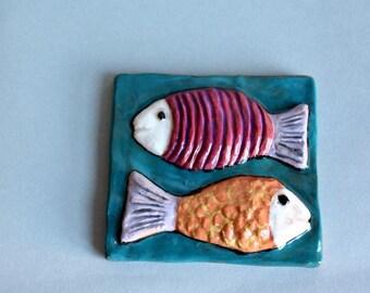 Ceramic Tile, ceramic tile handmade, decorative tile, italian pottery.