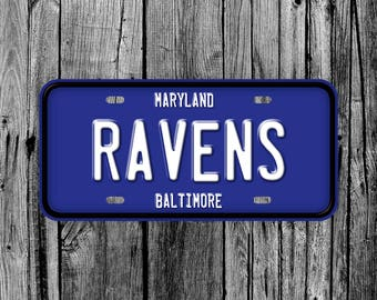 Baltimore Ravens Football NFL License Plate Vanity Auto Tag