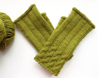 lime green Gloves,unusual Gloves, unusual mittens, fingerless knitted gloves, wool gloves Knitted mittens, Knitted Gloves,mittens for sale,
