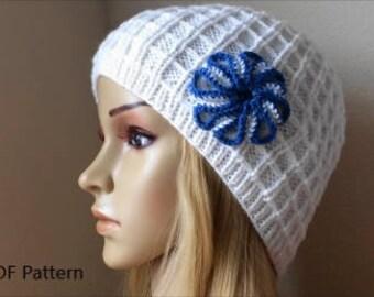 How To Knit A Waffle Stitch Hat, PDF File