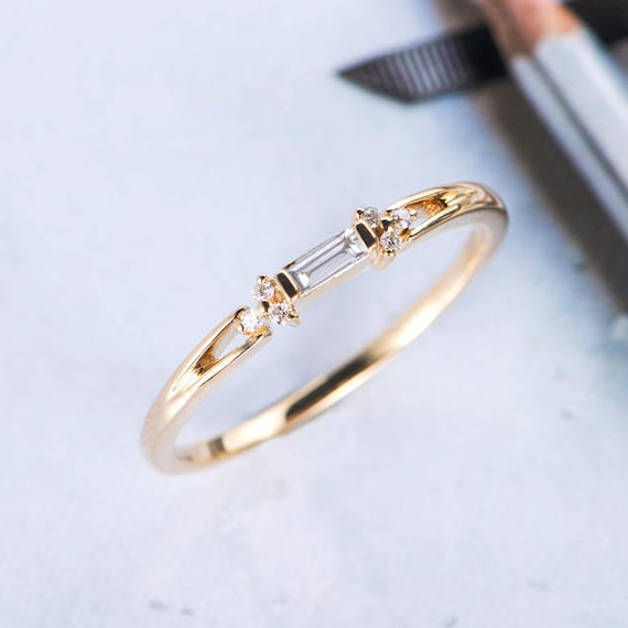 products stacking baguette tapered rings ring eternity bands stackable band grande unique asymmetrical il gold wedding thin fullxfull dainty diamond half