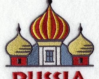 Russia St. Basils Embroidered Flour Sack Hand Towel