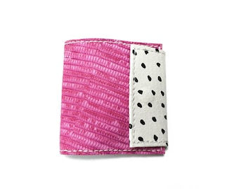 Leather wallet. Pink wallet. leather coin purse. Leather bifold. Woman wallet