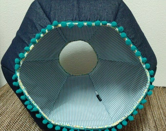 Denim Cat Cave, pet Beds, pet supplies, pet Furniture, Cat Cave, pet House, Handmade, Cat Bed, Cats