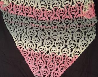 Skull shawl colorful crocheted