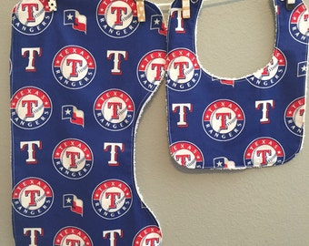 Texas Rangers Baby Gift Set Bib, Burp Cloth