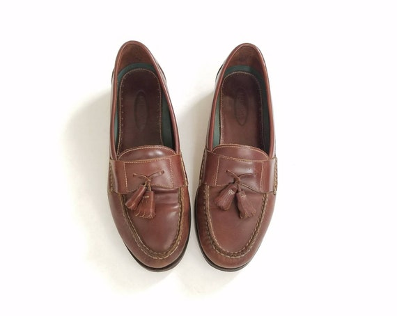 Casual Hipster 9 Mens Fashion Shoes Bass Dress Loafers Brown Leather Preppy Loafers 5 On Dress Oxfords Shoes Vintage Spring Tassel Slip Dark pUH5xwwq