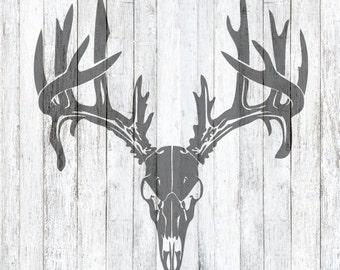 SVG File Deer Antler Skull