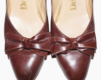 1950s DeLiso Deb Pump Shoes Sz 8.5US Vintage Retro