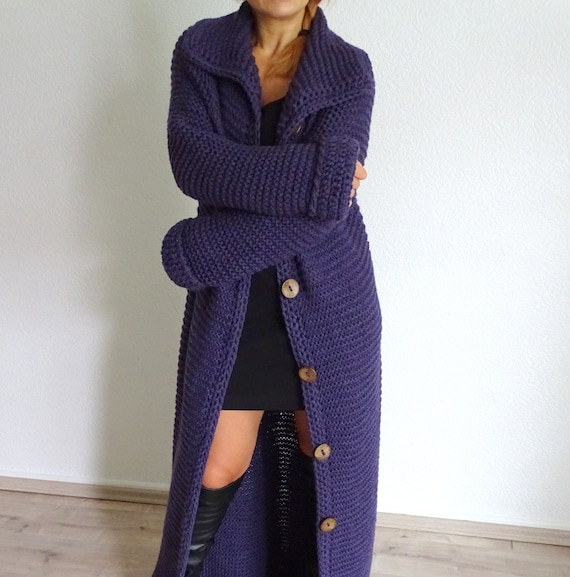 bulky long knitted cardigan overcoat wool handmade knitted long coat long cardigan knit coat long chunky long outfit cardigan wool 0OtwqnW7E