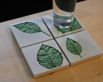 Concrete coasters - Leaf