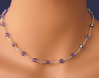 Wedding Jewelry Crystal Necklace Bridesmaids Necklace Swarovski Crystal Necklace
