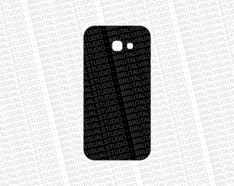 Samsung Galaxy A5 2017 - Skin Cut File Template - Templates for cutting or machining - Digital Download - Plotter, CNC, Lasers - Svg Cdr Ai