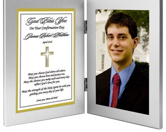 Confirmation Gift for Him or Her - Confirmation Frame and Poem - Add Photo After Delivery (70-516)