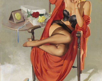 Pin Up Girl Art Print Reproduction, American-beauties_1949 Gil Elvgren
