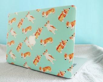 Animal Laptop Skin/ Welsh Corgi Shiba Inu Golden Retriever Border Collie Cat Rabbit Bunny Macbook Air Pro Notebook Case Sleeve Cover