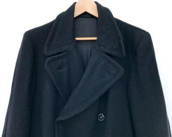 Vintage coat, mohair, 40s, Humphrey Bogart, wool coat, retro