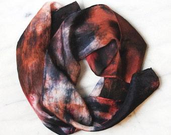 Multicolored Women's Silk Shibori Tie Dyed Scarf - 1015