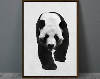 Panda Print, Panda Wall Decor, Panda Poster, Panda, Animal Print Wall Decor, Printable Panda Wall Art, Panda Nursery