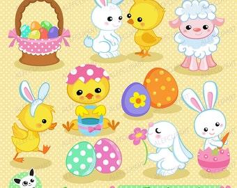 Easter Spring 4. Digital clip art.Instant Download.
