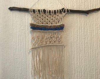 Macrame wall hanging with wool