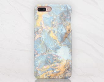 Blue Marble Case iPhone 8 Case iPhone 6s Case Stone iPhone 5s Case iPhone 7 Plus Case Marble iPhone 5 Case Shell Case iPhone Cover RD1401