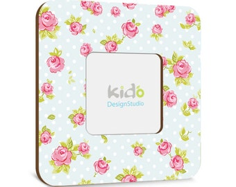 Baby girl PHOTO FRAME floral roses, Children Picture Frame, Baby Nursery Wall Decor