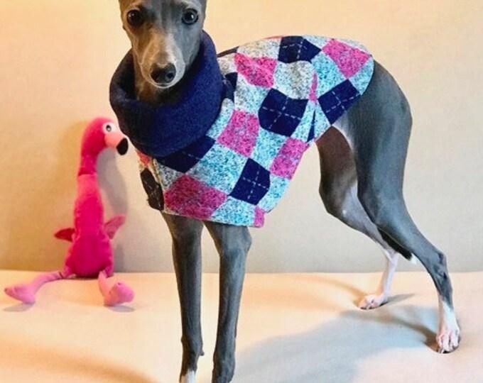 """Italian Greyhound Clothing.  """"Aunt Bette's Cardigan"""" - Italian Greyhound sizes"""