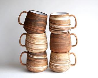 Marbled Clay Mugs - MADE TO ORDER - Handmade Mugs - Handmade Ceramic Mugs - Coffee Mugs - Teacups - Ceramic Cups - Agateware - Swirlware