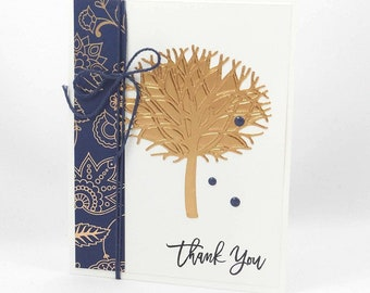 Handmade Thank You Card - Stampin Up Thoughtful Branches - Friendship Thank You Card - Elegant Thank You - A Special Thanks - Gratitude Card