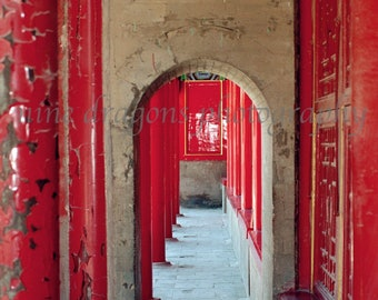 Red Door Art, Asian Art, Chinese Red Home Decor, Doorway Art, Red Art Print, Asian Decor, Door Photography, Red Wall Art,Chinese Photography