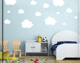 Cloud Wall Decals   Wall Decals   Small Clouds Vinyl Wall Decals   Set Of 42