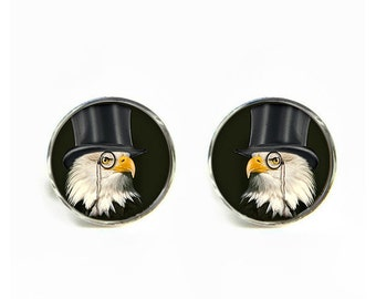 Dandy Eagle small post stud earrings Stainless steel hypoallergenic 12mm Gifts for her