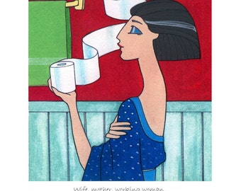 Wife, Mother, Working Woman bathroom art print