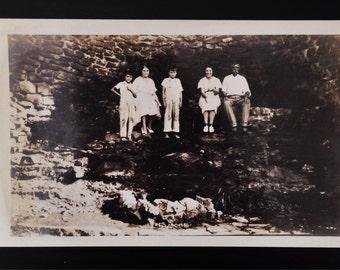 Original Antique Photograph | The Cave Dwellers